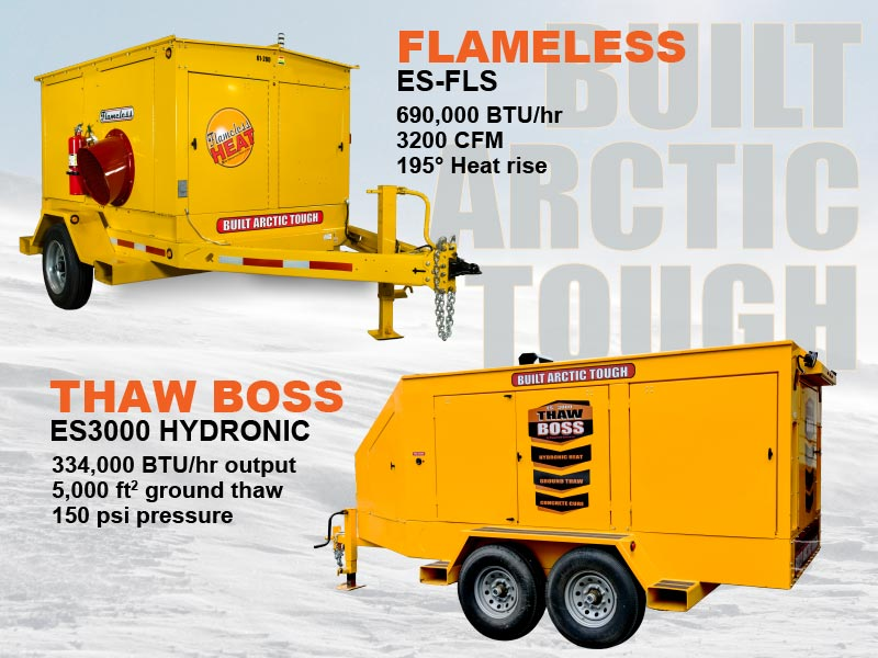 New Flameless and Hydronic Heaters by ESI! Built Arctic Tough