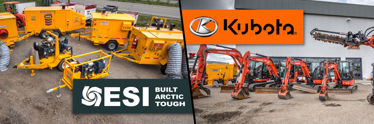 ESI and Kubota branding and equipment