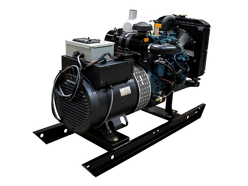 KPG 15kW generator set with Kubota engine on skid