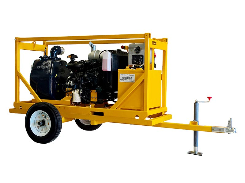 ES-CP41 4-inch pump, trailer-mounted