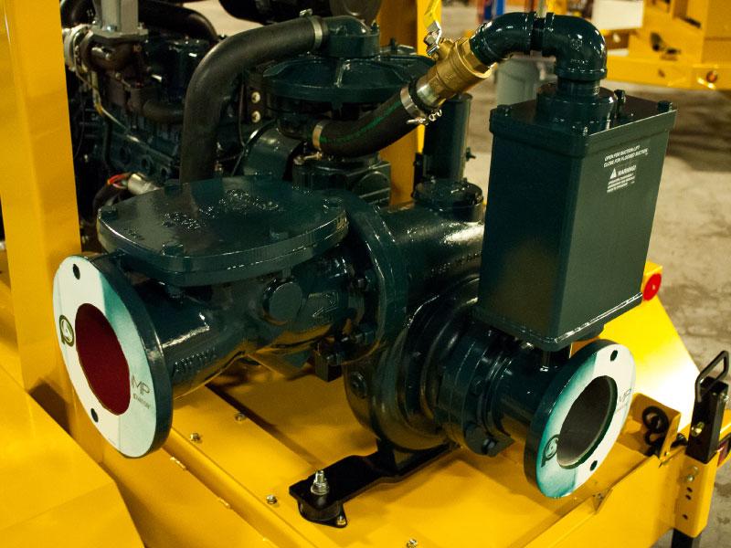 Pioneer Prime 66S10 pump on ESI 6-inch trailer pump set (left view)