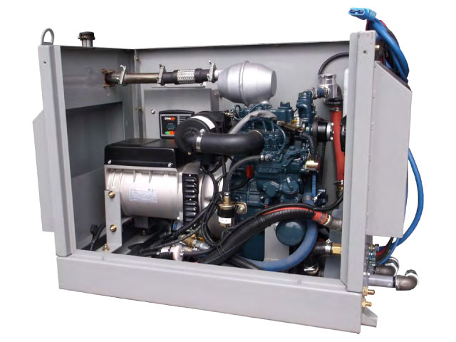 APU generator in enclosure