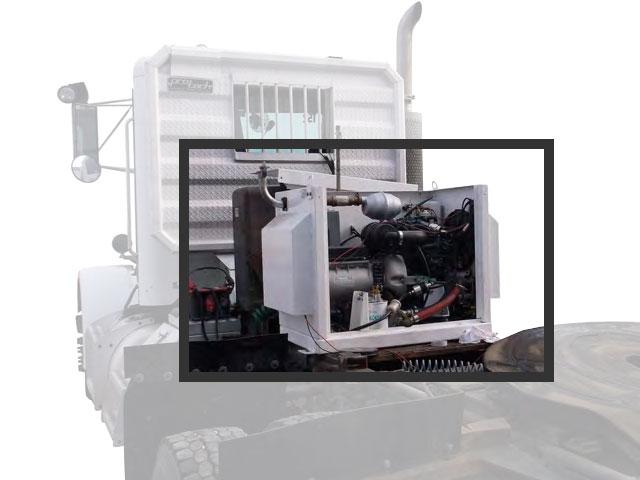 APU generator mounted behind cab