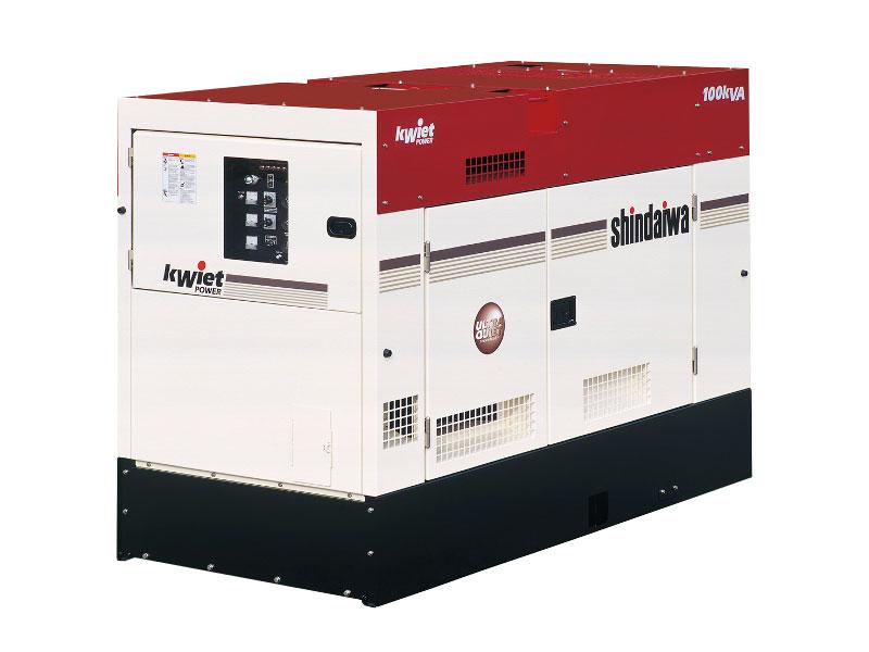 Shindaiwa DGK100D 100kVA/80kW 3-phase generator set