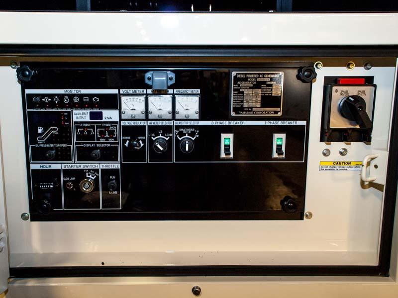 Shindaiwa DGK60D 60kVA/48kW control panel
