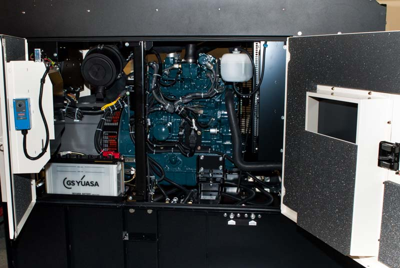 Shindaiwa DGK60D 60kVA/48kW enclosure interior
