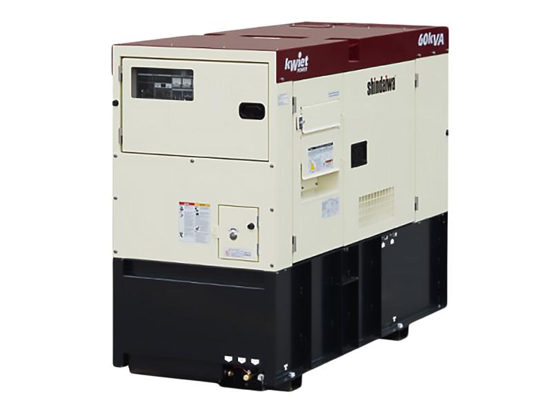 Shindaiwa DGK60D 60kVA/48kW 3-phase generator set