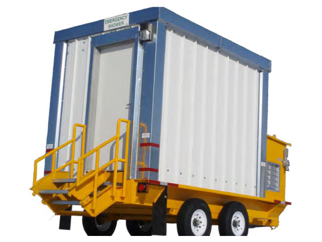 Emergency shower trailer