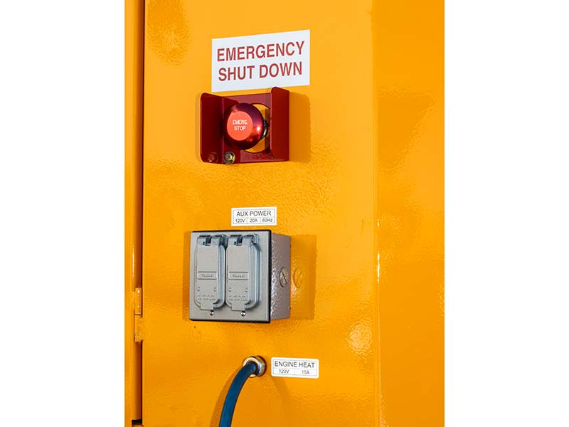 ES3000 hydronic heater emergency shutdown switch and auxiliary power outlets