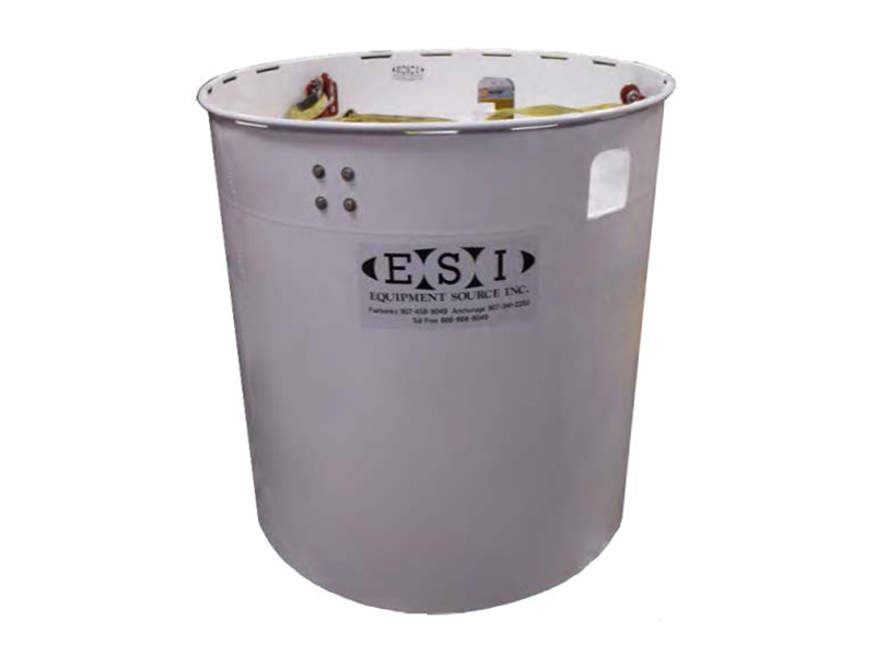 Portable cylindrical fuel tank